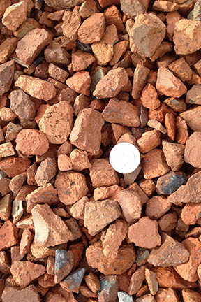 One Inch Red Brick Chips